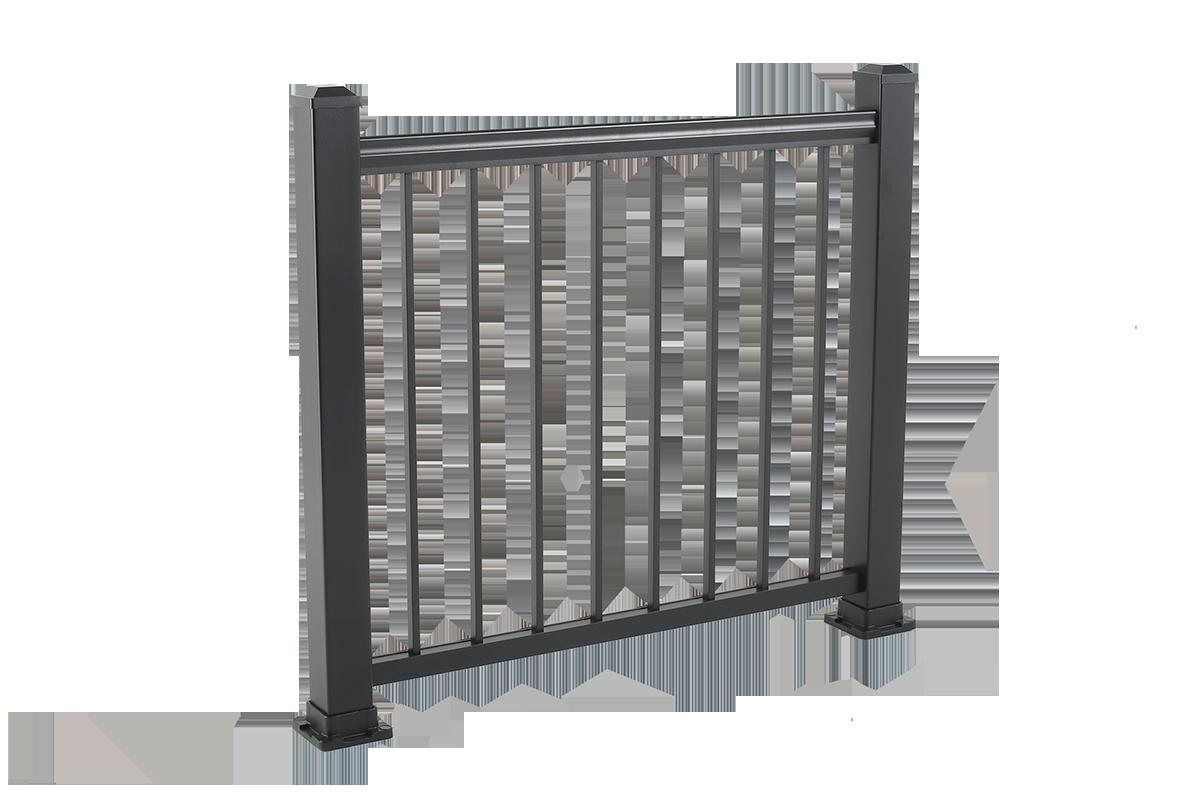 Aluminum railing black vision outdoor produtcs