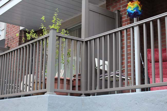 Aluminum Railing-Black Double Bar Design